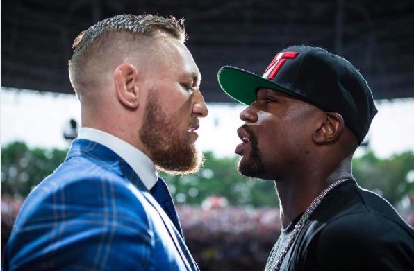 Floyd (esq) e Conor (dir): frente a frente de novo (Foto: Reprodução/Instagram/ConorMGregor)