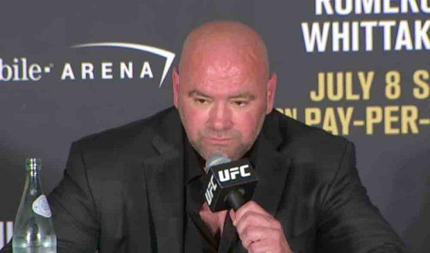 D. White não escondeu a irritação com Amanda. Foto: Reprodução / YouTube / UFC