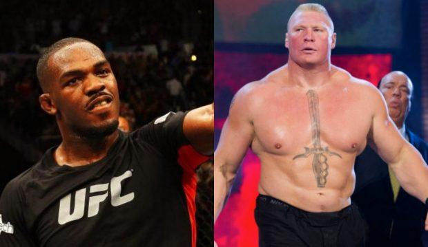 Jones tem interesse em enfrentar Lesnar ((Foto: Reprodução/Facebook/Montagem SL)