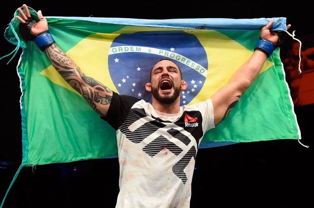 S. Ponzinibbio nocauteou Nelson no R1 (Foto: Reprodução/Facebook/UFC)