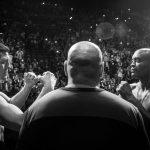 A. Silva (dir) quer outra luta com N. Diaz (esq) (Foto: Reprodução/Facebook/UFC)