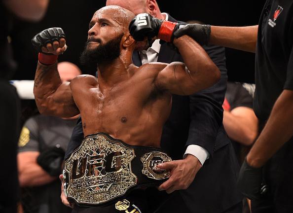 D. Johnson luta no UFC 215 (Foto: Reprodução Twitter UFCNews)