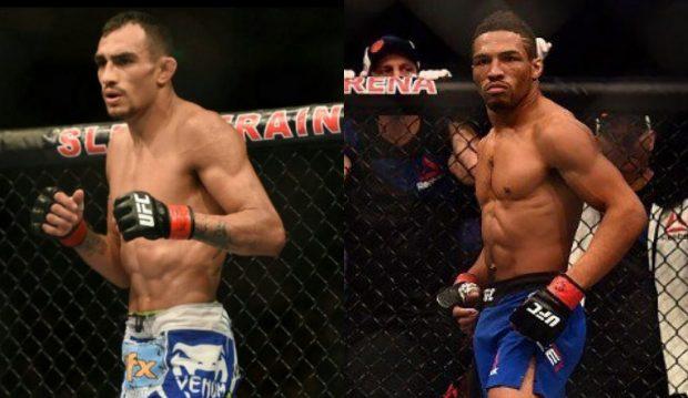 Ferguson e Lee disputam o cinturão interino (Foto: Reprodução/Facebook/Montagem SL)