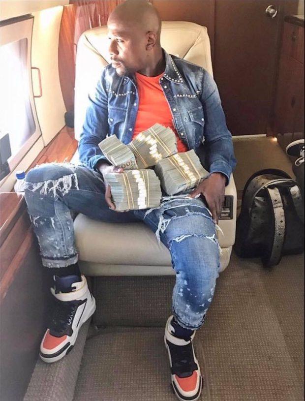 """F. Mayweather hoje é conhecido pelo """"amor"""" ao dinheiro e extravagância (Foto: Reprodução Facebook Floyd Mayweather)"""