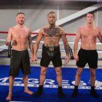 Kavanagh (esq) com McGregor e O. Roddy (dir) (Foto: Reprodução Twitter coach_kavanagh)