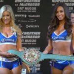 Money Belt é mostrado por ring girls Foto: Reprodução Youtube UFC