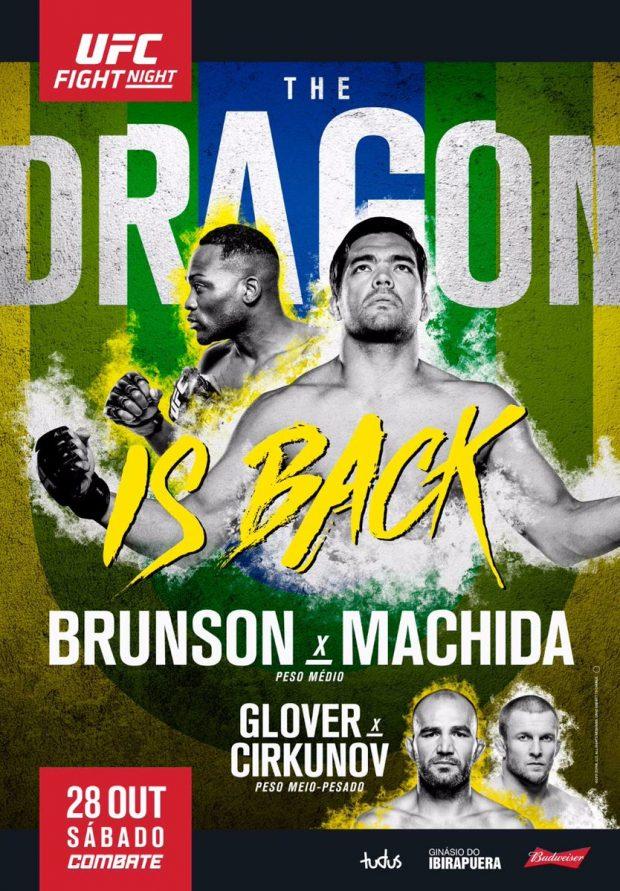 Pôster destaca retorno de Machida (Foto: Reprodução Twitter ufc_brasil)