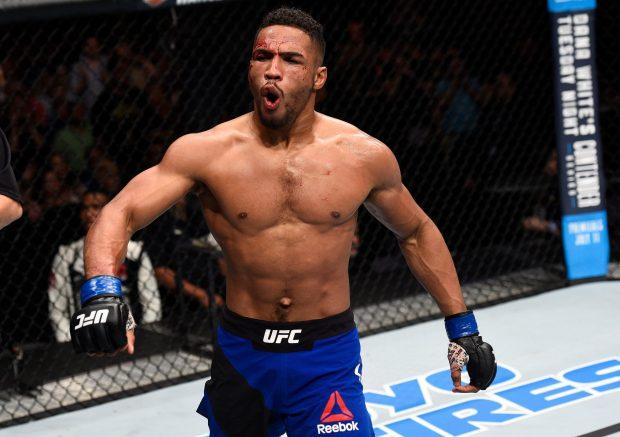 K. Lee disputa título interino no UFC 216 (Foto: Reprodução Twitter ufc)