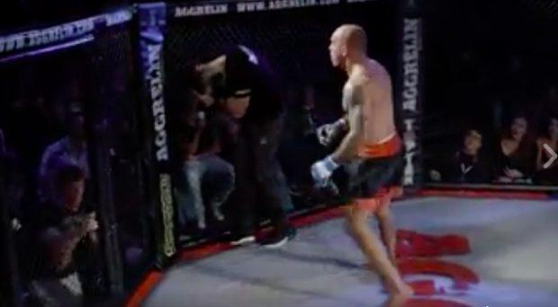 Lutador agrediu árbitro (Foto:Reprodução/Facebook)