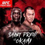 Y. Okami (dir) volta contra OSP (esq) Foto: Reprodução Twitter UFC