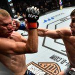 Till (dir) quebrou o nariz de Cerrone (esq) no UFC Polônia (Foto: Reprodução Instagram ufc_brasil)