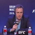 David Shaw (foto) não ficou satisfeito com as declarações de Covington. Foto: Reprodução / YouTube UFC