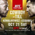 Pôster oficial do UFC Polônia destaca lutas principais (Foto: Divulgação)