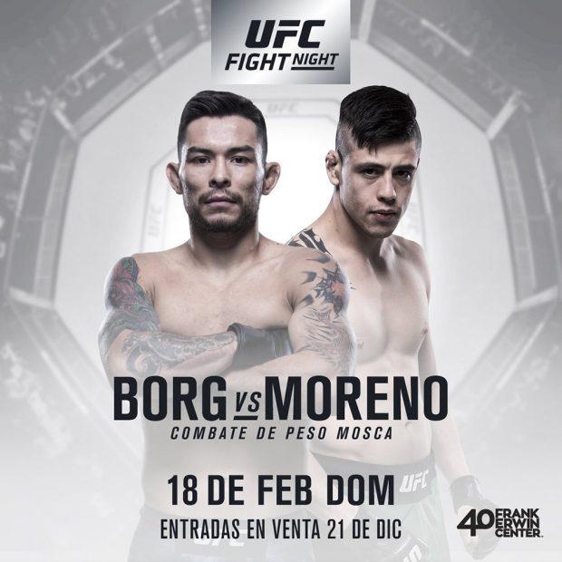 Borg e Moreno se enfrentam em 2018 (Foto: Reprodução Twitter UFCEspanol)
