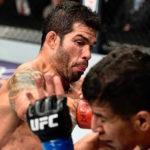 Assunção aplicou belo nocaute em Lopez (Foto: Reprodução/Facebook UFC)