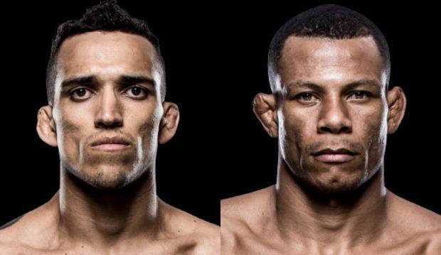 C. Oliveira (esq) e A. Cowboy (dir) representam o Brasil (Foto: Reprodução site oficial UFC)