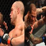 Alvarez e  Gaethje (esq.) e Medeiros e Cowboy (dir.) levaram o bônus do UFC 218. Foto: Reprodução Instagram UFC
