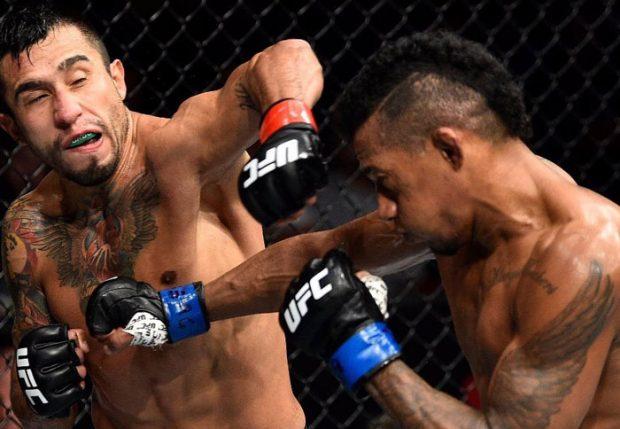 Marajó (dir.) foi derrotado por A. Perez (esq.). Foto: Reprodução / Instagram / UFC Brasil