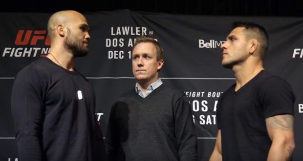 Lawler (esq) e Dos Anjos (dir) lutam neste sábado (16) (Foto: Reprodução Youtube ufc)
