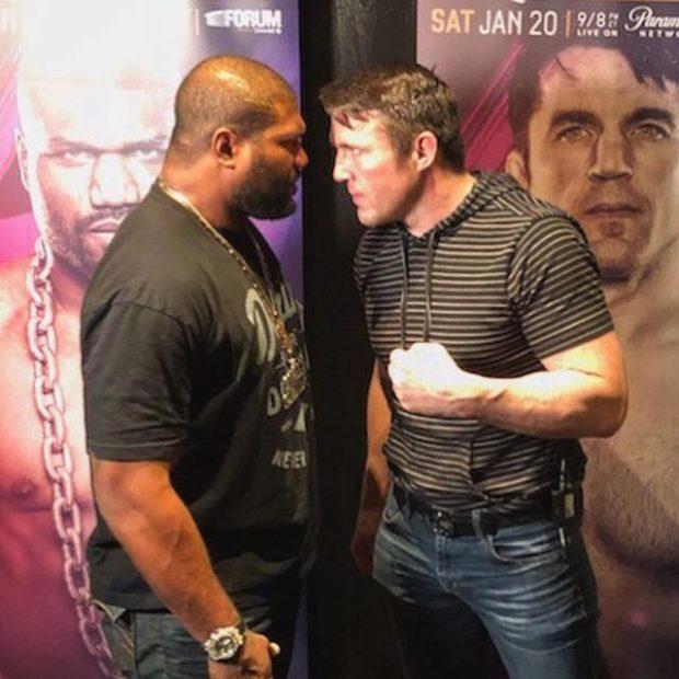 Rampage e Sonnen apostaram dinheiro por fora (Foto: Reprodução Facebook Bellator MMA)