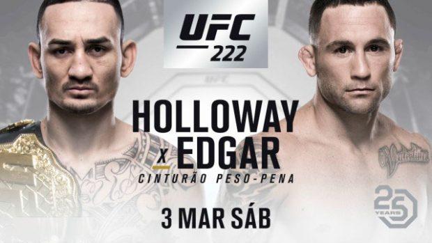 Holloway defende cinturão contra Edgar no UFC 222. Foto: Reprodução / Twitter UFC