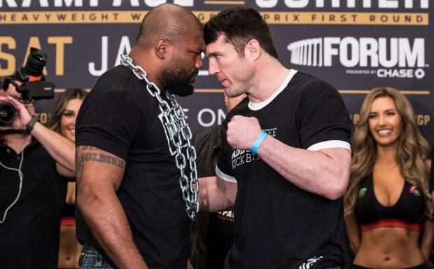Rampage e Sonnen fazem luta principal do UFC 192. Foto: Reprodução / Twitter BellatorMMA