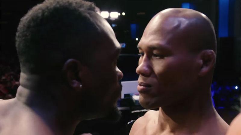 Brunson (esq.) e Jacaré (dir.) fazem luta principal da noite. Foto: Reprodução/YouTube