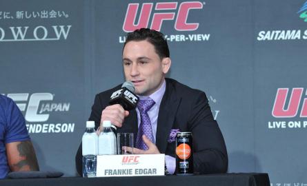 Frankie Edgar durante coletiva de imprensa do UFC 144 (Foto: Josh Hedges/Zuffa LLC)