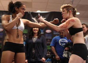 Amanda Nunes (esquerda) terá pela frente Sarah D´Alelio
