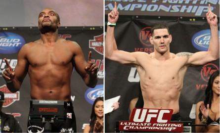 Duelo entre A.Silva (esq.) e C.Weidman (dir.) pode finalmente acontecer em julho. Foto: Produção MMA Press (Divulgação: UFC)