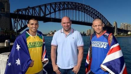 Última edição do UFC na Austrália recebeu as finais do TUF Smashes. Foto: Divulgação/UFC