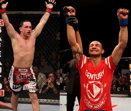 Edgar (esq,) e Swanson (dir.) foram cotados para se enfrentar e agora o duelo volta à cogitação. Fotos: Josh Hedges/UFC
