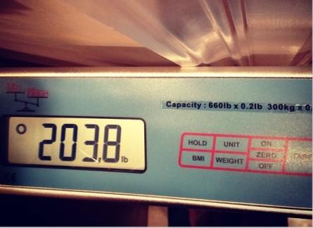 Belfort mostrou seu peso atual nas redes sociais. Foto: Instagram/Reprodução