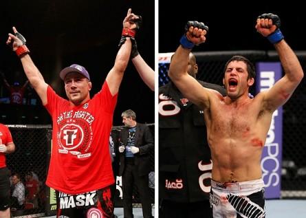 M. Pierce (esq.) e D. Mitchell (dir.) vão se enfrentar no dia 6 de julho. Foto: Produção MMA Press (Divulgação/UFC)