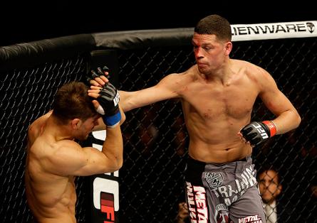 Nate Diaz durante a luta contra Josh Thomson no UFC on FOX 7. Foto: Josh Hedges/UFC