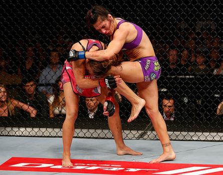 Miesha Tate (esq.) fica parada até junho. Foto: Josh Hedges/UFC
