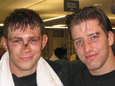 F. Griffin (esq.) e S. Bonnar (dir.) rivais na primeira edição do TUF. Foto: UFC/Divulgação