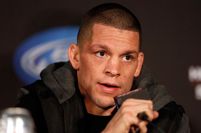 N. Diaz. (foto) quer fazer uma trilogia com McGregor. Foto: Josh Hedges/UFC