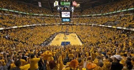 Bankers Life Fieldhouse durante um jogo do Indiana Pacers. Foto: Vigilant Sports