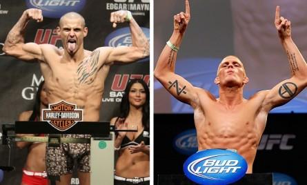 D. Poirier (esq.) e E. Koch (esq.) busca se reabilitar no Ultimate. Foto: Produção MMA Press (Divulgação/UFC)