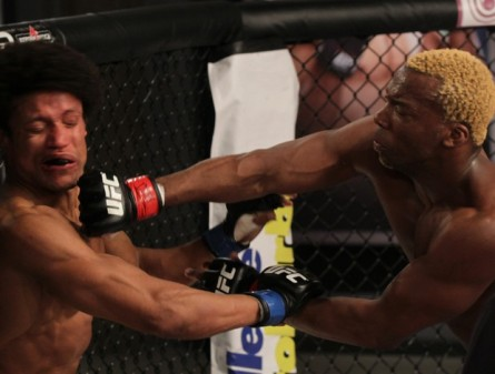 Patolino (dir.) vence T. Alves (esq.) no TUF Brasil 2. Foto: Divulgação/UFC