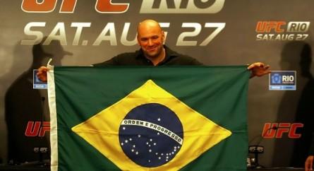 Dana White prometeu e deve cumprir: seis eventos no Brasil em 2013