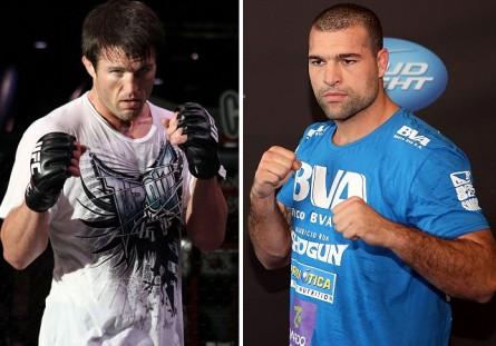 Luta adiada entre M.Shogun (dir.) e C.Sonnen (esq.) acontece em agosto. Foto: Produção MMA Press (Divulgação/UFC)