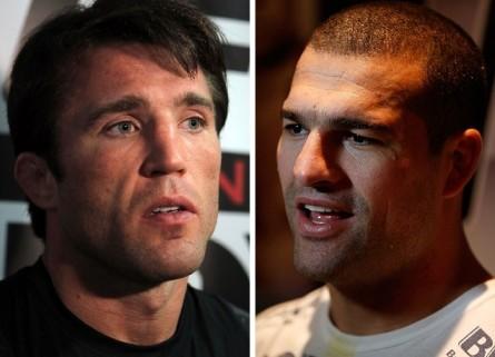 Duelo entre C. Sonnen (esq.) e M.Shogun (dir.) deve ficar para agosto. Foto: Produção MMA Press (Divulgação/UFC)