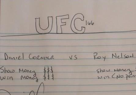 """""""Contrato"""" do UFC 166 publicado por D.Cormier. Foto: Reprodução/Instagram"""