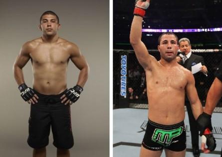 R.Forte (esq.) terá J.Makdessi (dir.) pela frente em setembro, no Canadá. Foto: Produção MMA Press (Divulgação/UFC)