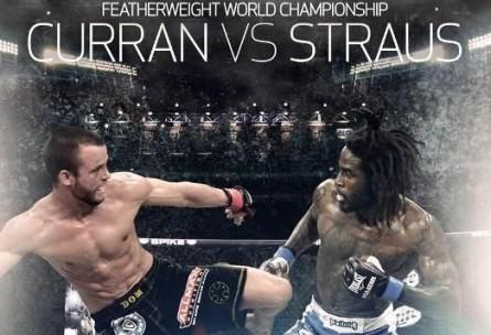Cartaz do Bellator 106 com Curran e Straus. Foto: Twitter/Reprodução