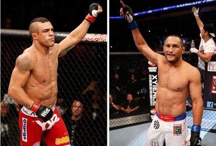 Revanche entre V.Belfort (esq.) e D. Henderson (dir.) pode acontecer em novembro. Foto: Produção MMA Press (Josh Hedges/UFC)