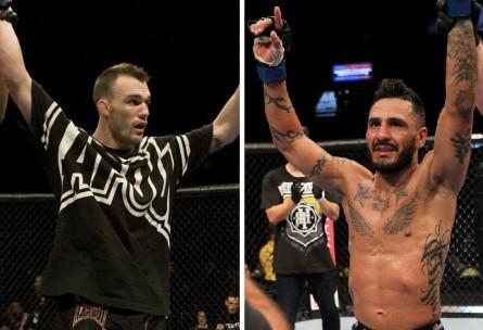 G.Roop (esq.) encara F.Rivera (dir.) em outubro. Foto: Produção MMA Press (UFC/Divulgação)