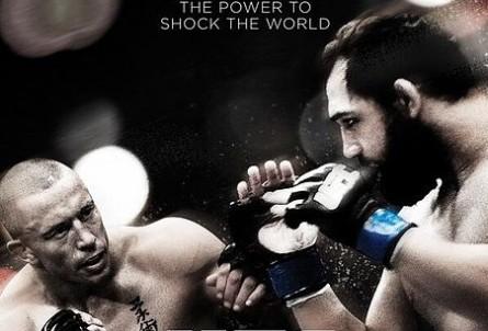 St. Pierre (esq.) e J.Hendricks (dir.) no pôster do UFC 167. Foto: Divulgação